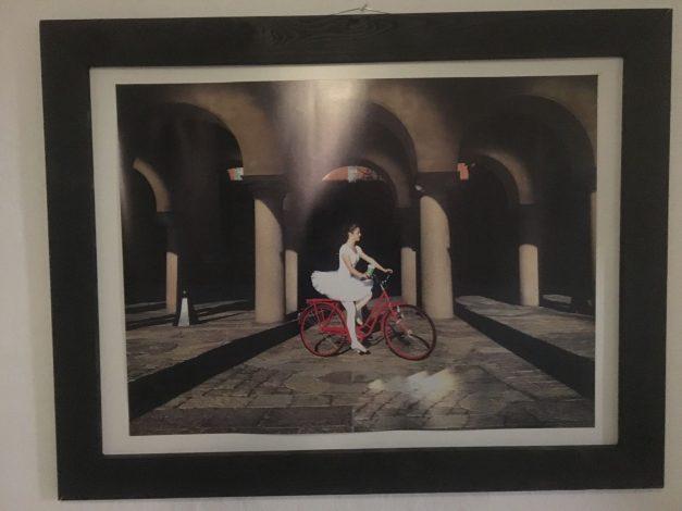 Bailarina en bicicleta