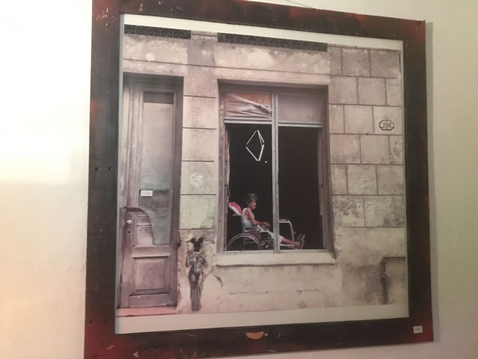 Cuadro Anciana en la ventana